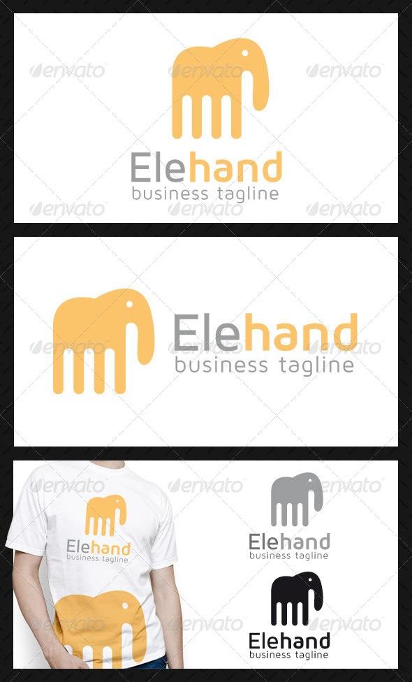 GraphicRiver Elephant Hand Logo Template 4309053