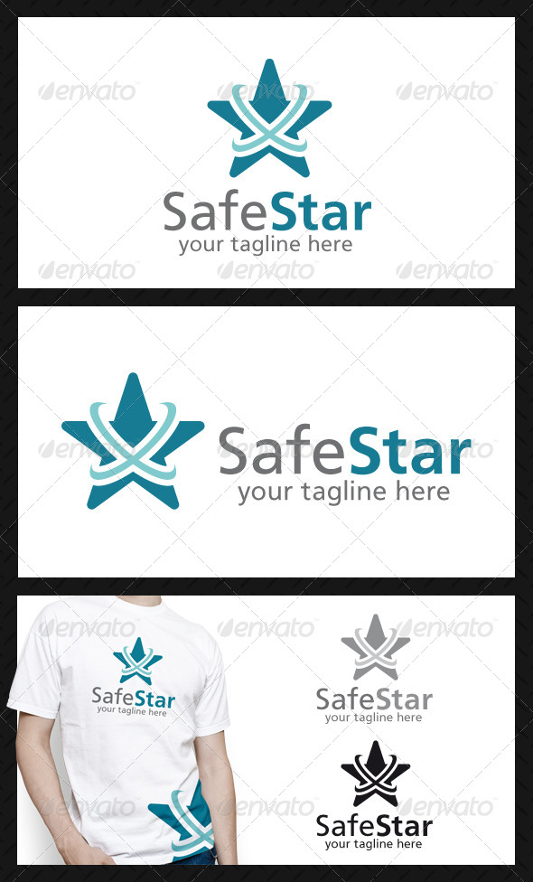 Safe Star Logo Template