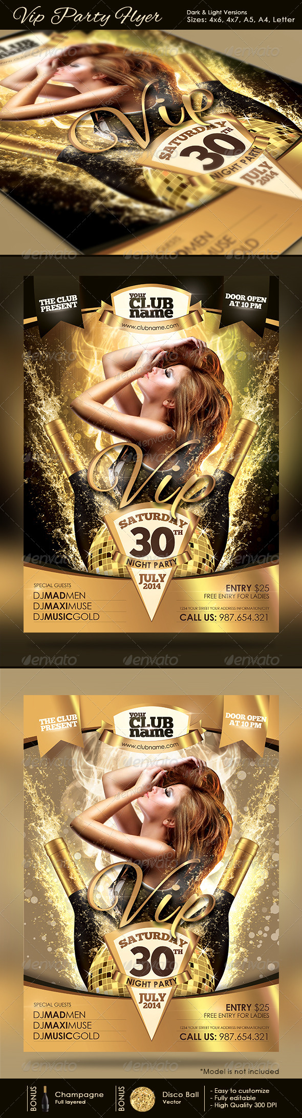 GraphicRiver Vip Party Flyer 4158076