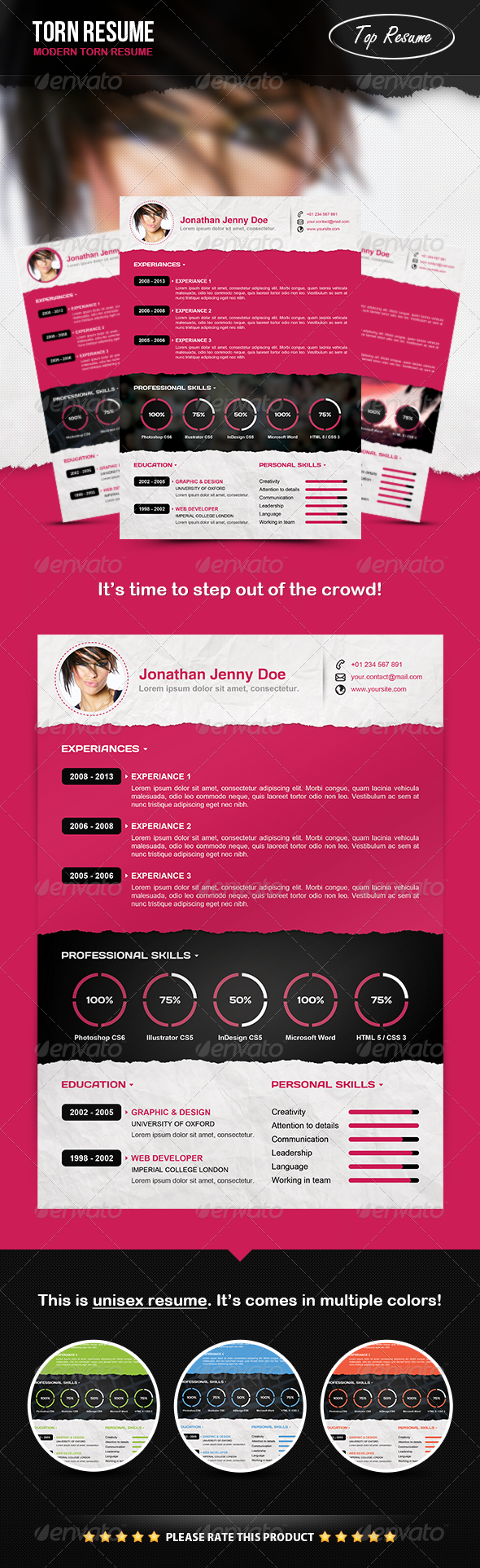 GraphicRiver Torn Resume 4130523