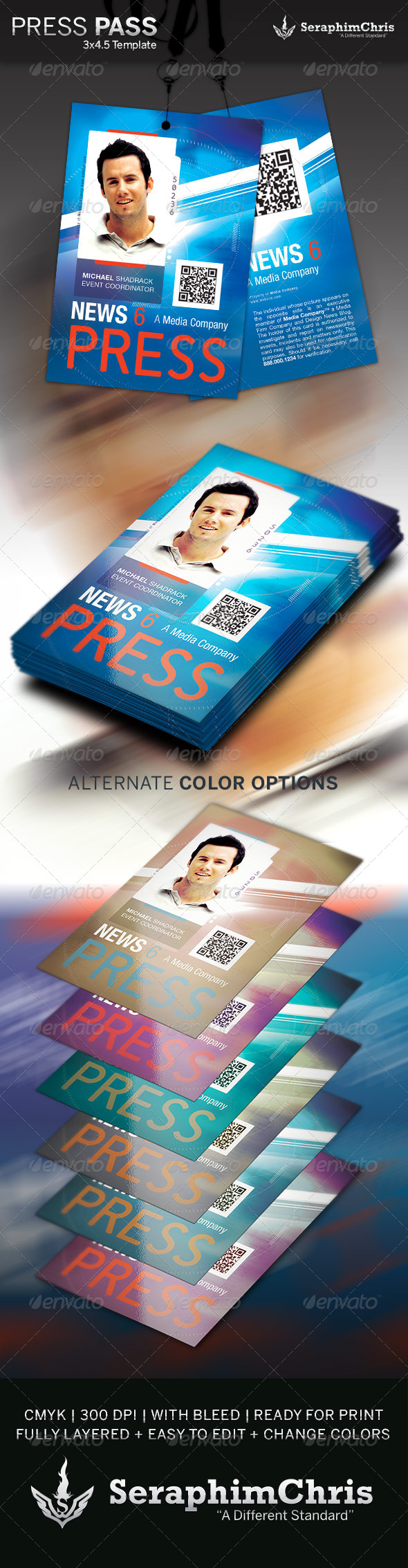 Press Pass Template 3