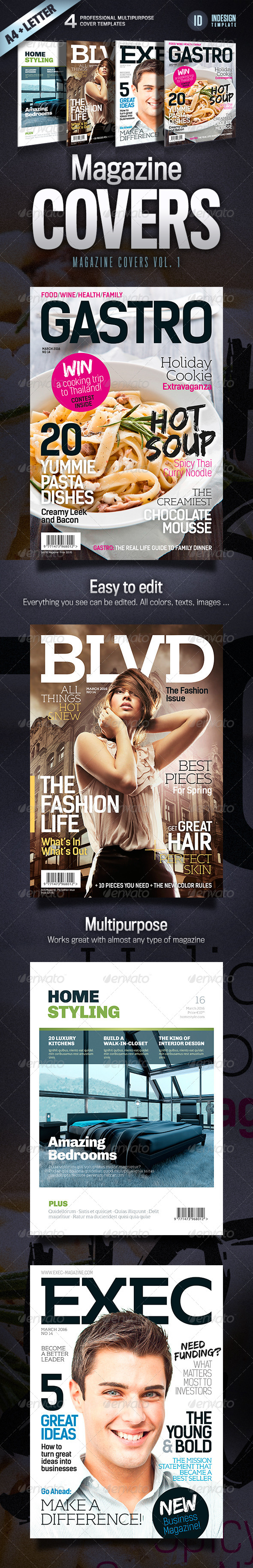 Magazine Covers - Vol. 1 - Magazines Print Templates