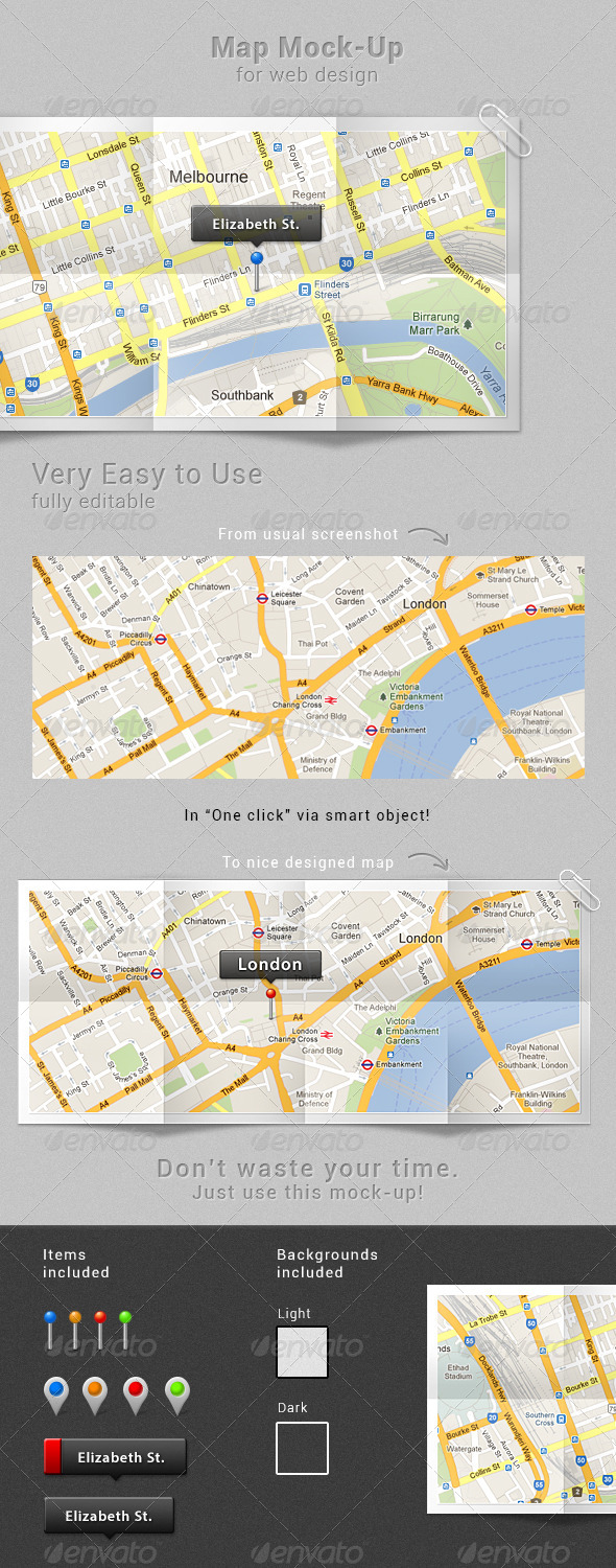 GraphicRiver Map Mock-up 4310109