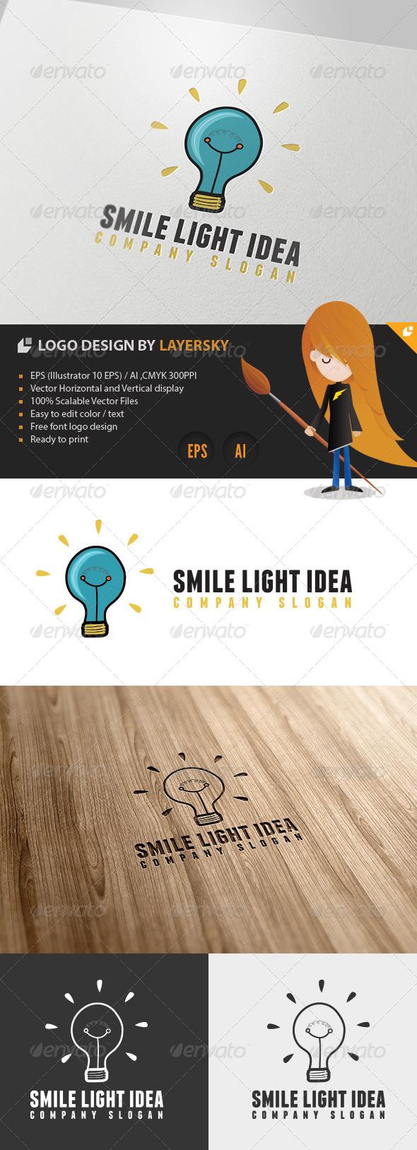GraphicRiver Smile Light Idea Logo 4310182
