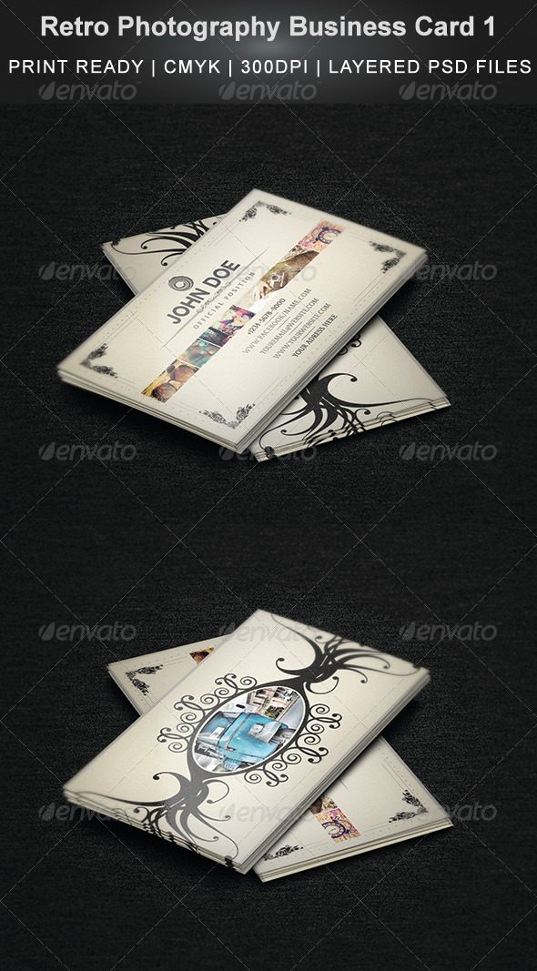 GraphicRiver Retro Photography Business Card 1 4310241
