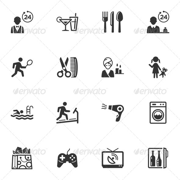 GraphicRiver Hotel Services and Facilities Icons Set 2 4310253