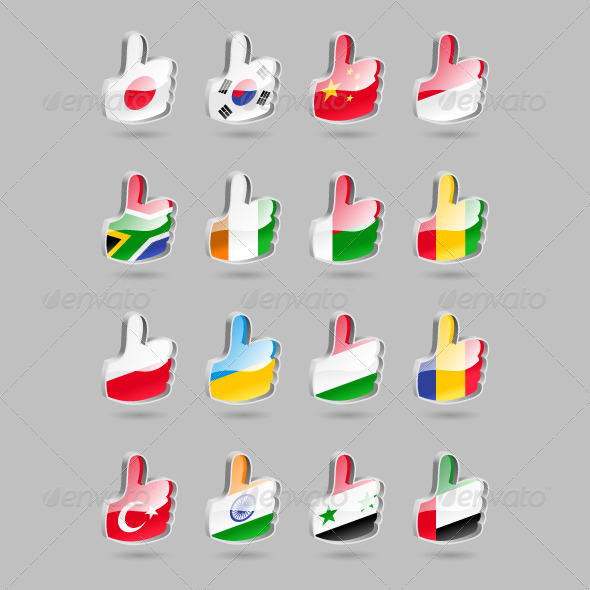 GraphicRiver Thumbs Up Flags Part2 4310316