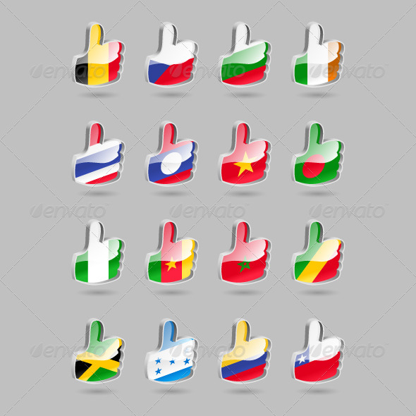 GraphicRiver Thumbs Up Flags Part3 4310323