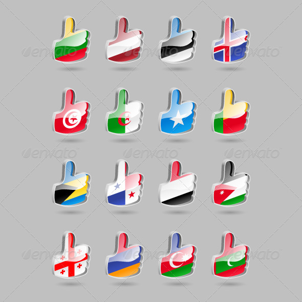 GraphicRiver Thumbs Up Flag Part4 4310579