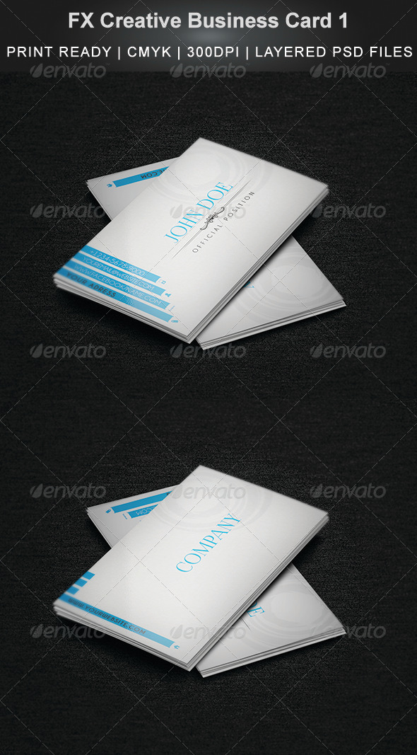 FX Creative Business Card 2 - Business Cards Print Templates