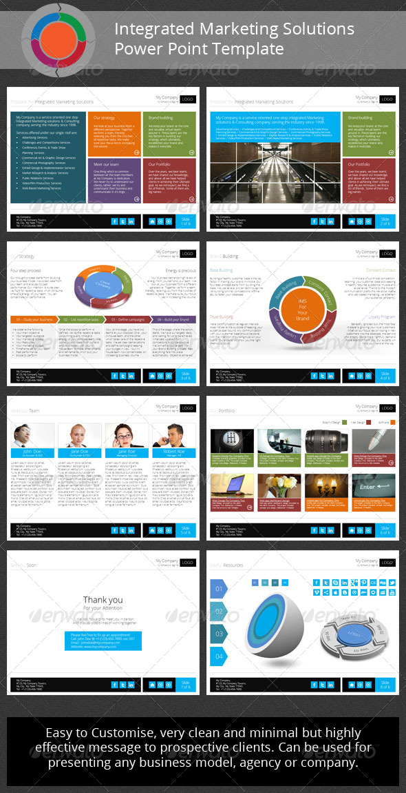 GraphicRiver Integrated Marketing Solutions PowerPoint Template 4310702