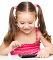 Little girl is using calculator - PhotoDune Item for Sale