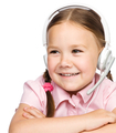 Young girl is working as an operator at helpline - PhotoDune Item for Sale