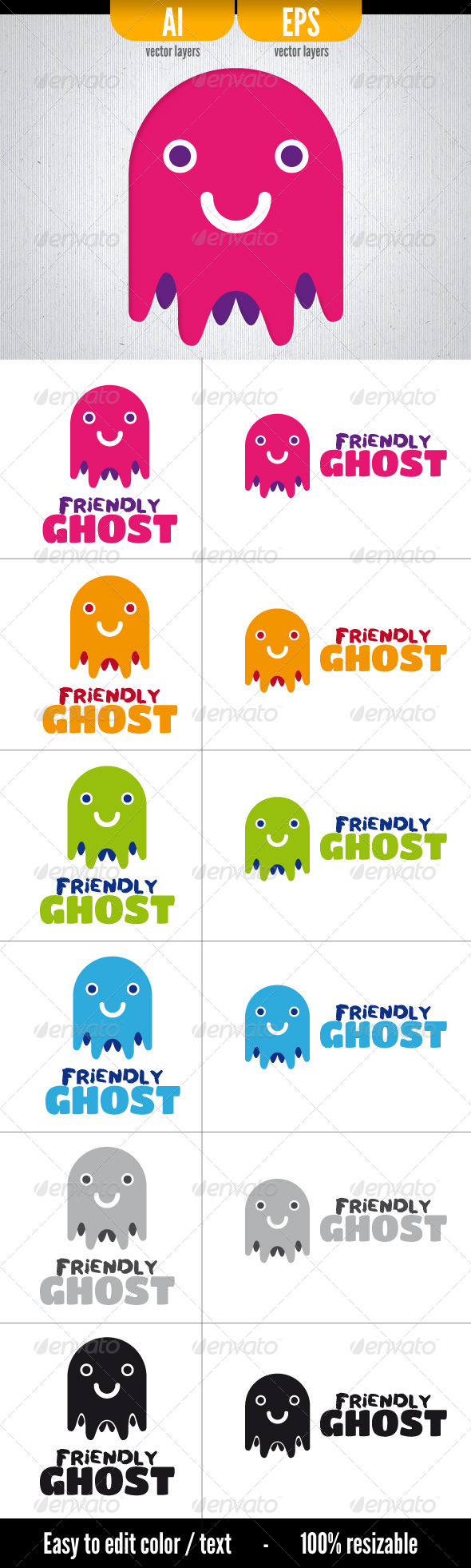 GraphicRiver Friendly Ghost 4310939