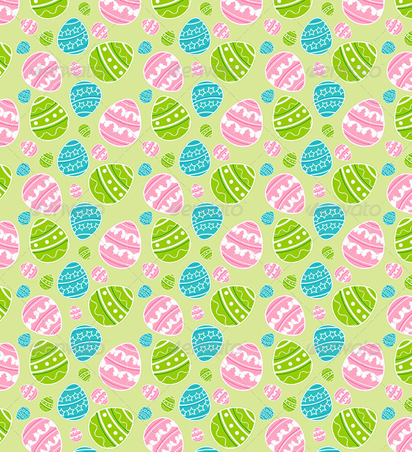 GraphicRiver Green Easter Seamless Pattern 4310987