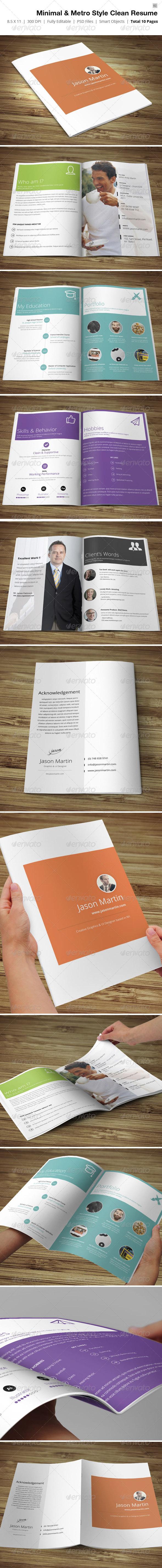 GraphicRiver Minimal & Metro Style Resume 4311194