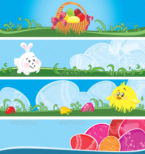 GraphicRiver Easter Multicolor Banners 4311286