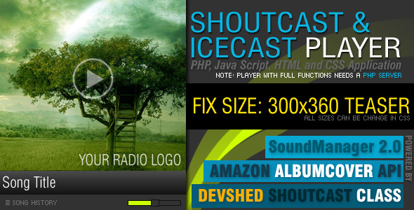 CodeCanyon PHP-Javascript Shoutcast and Icecast V2.0 4311496