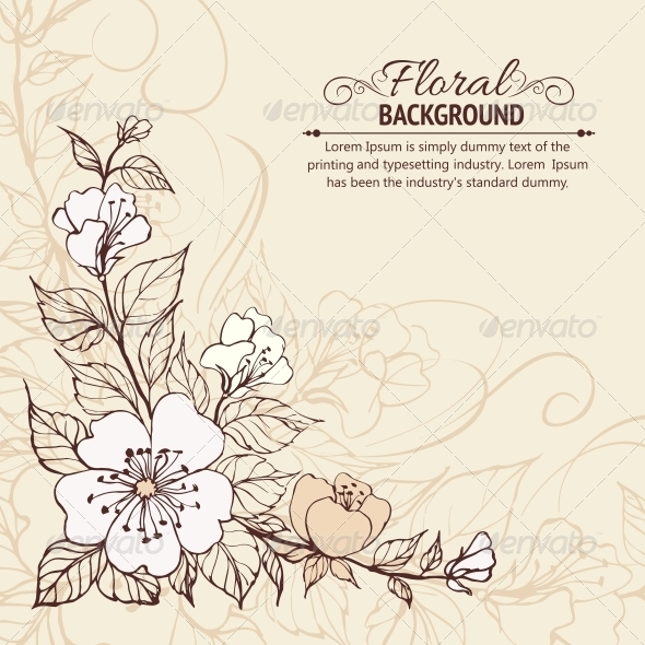 GraphicRiver Abstract Flower Background 4311755