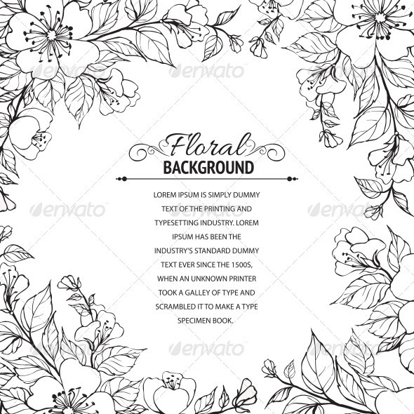 GraphicRiver Flower Frame 4311793