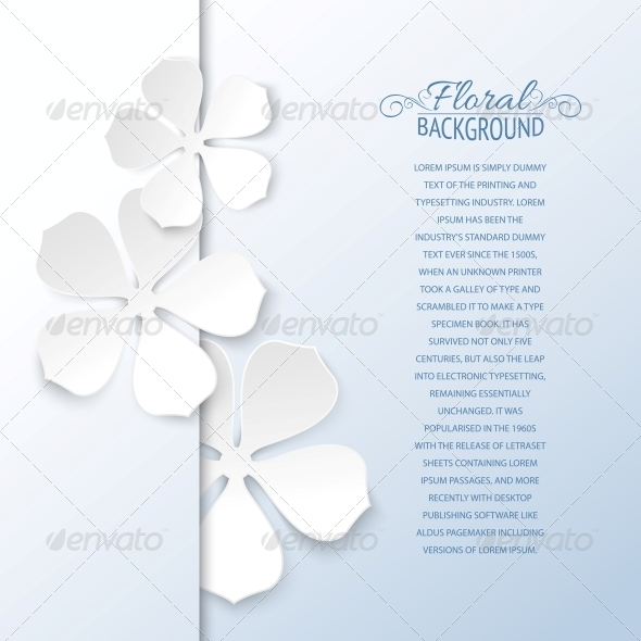 GraphicRiver White Flowers and Copy Space 4311816