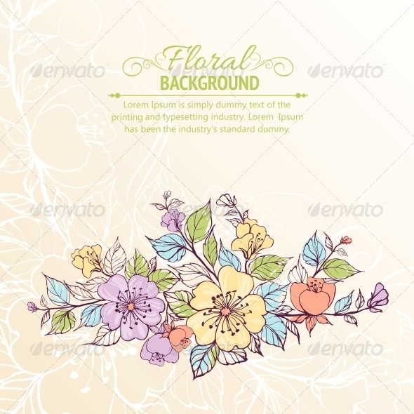 GraphicRiver Flower Background 4311823