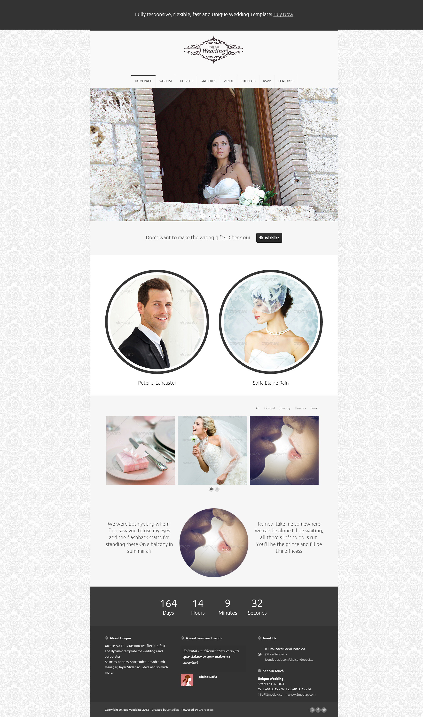Unique Wedding | Multipurpose Responsive Template
