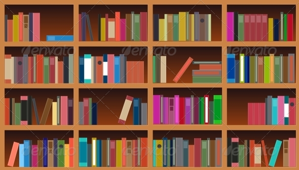 GraphicRiver Bookcase Vector Illustration 4312302