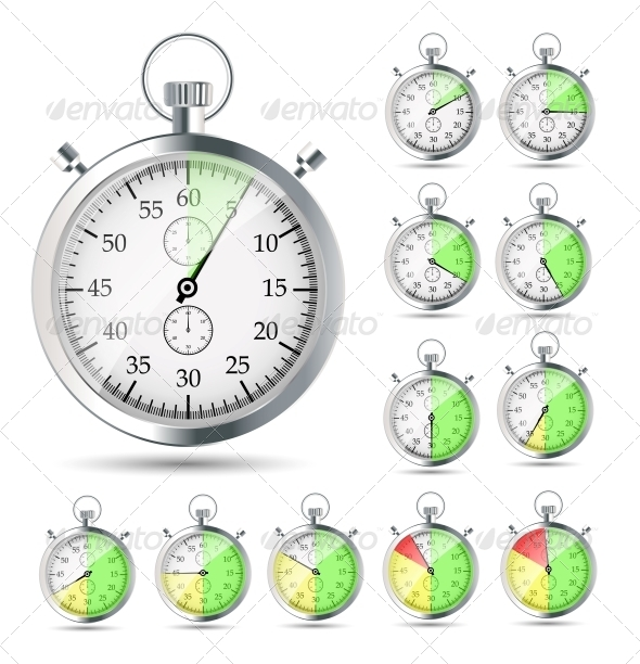 GraphicRiver Stopwatch Vector Illustraion 4312306