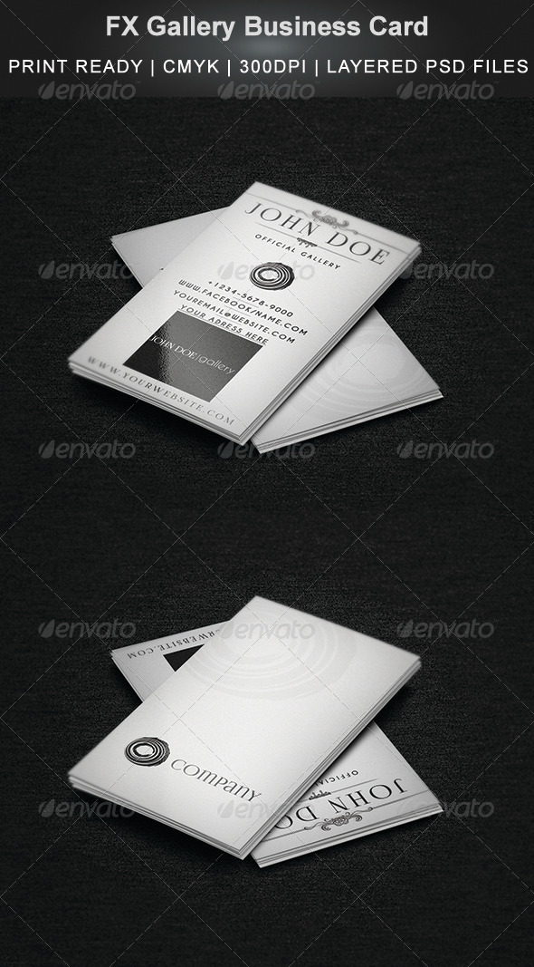 FX Gallery Business Card - Industry Specific Business Cards