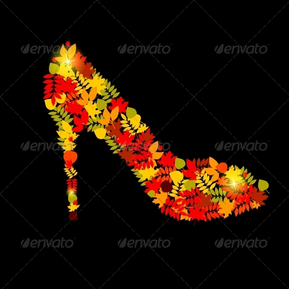 GraphicRiver Vector Illustration of Shoes from Autumn Leaves 4312377