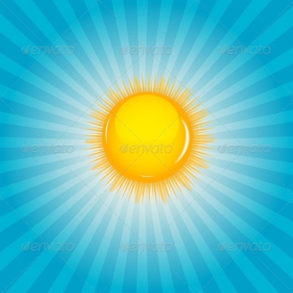 GraphicRiver Sun and Cloud Background Vector Illustration 4312388