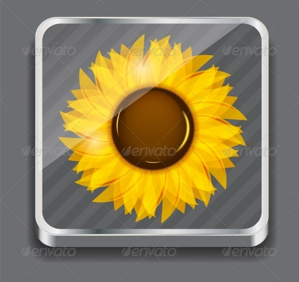 GraphicRiver Sunflowers Vector Illustration Background 4312471