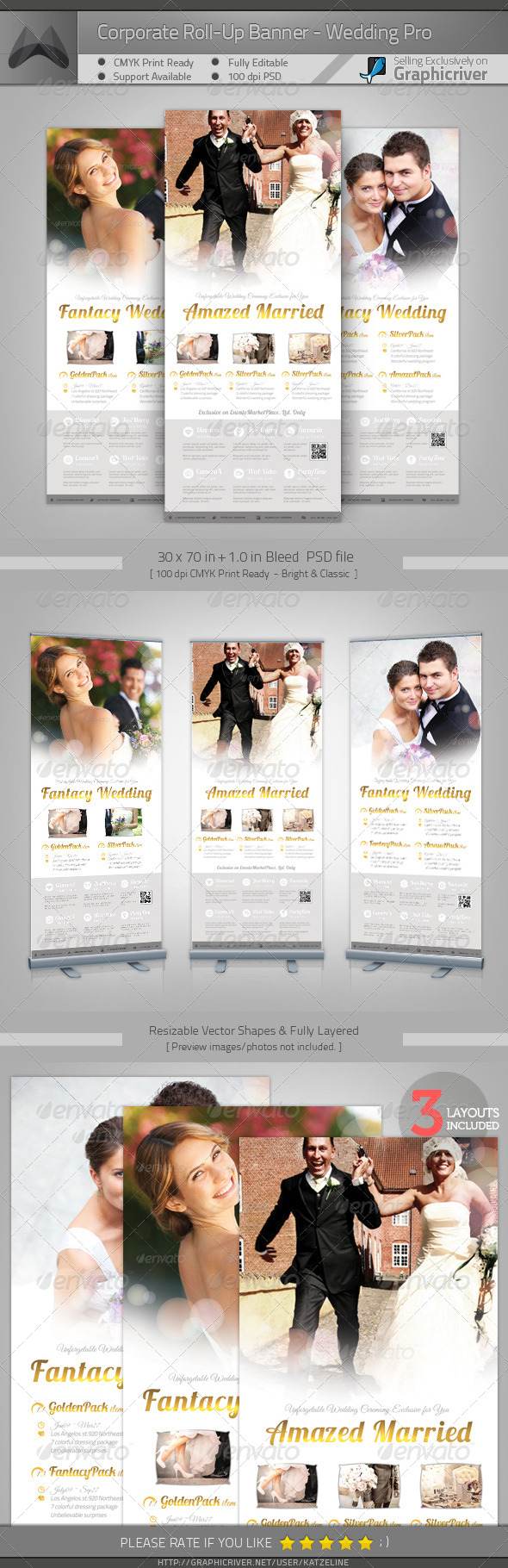 GraphicRiver Corporate Roll-up Banner Wedding 4171654