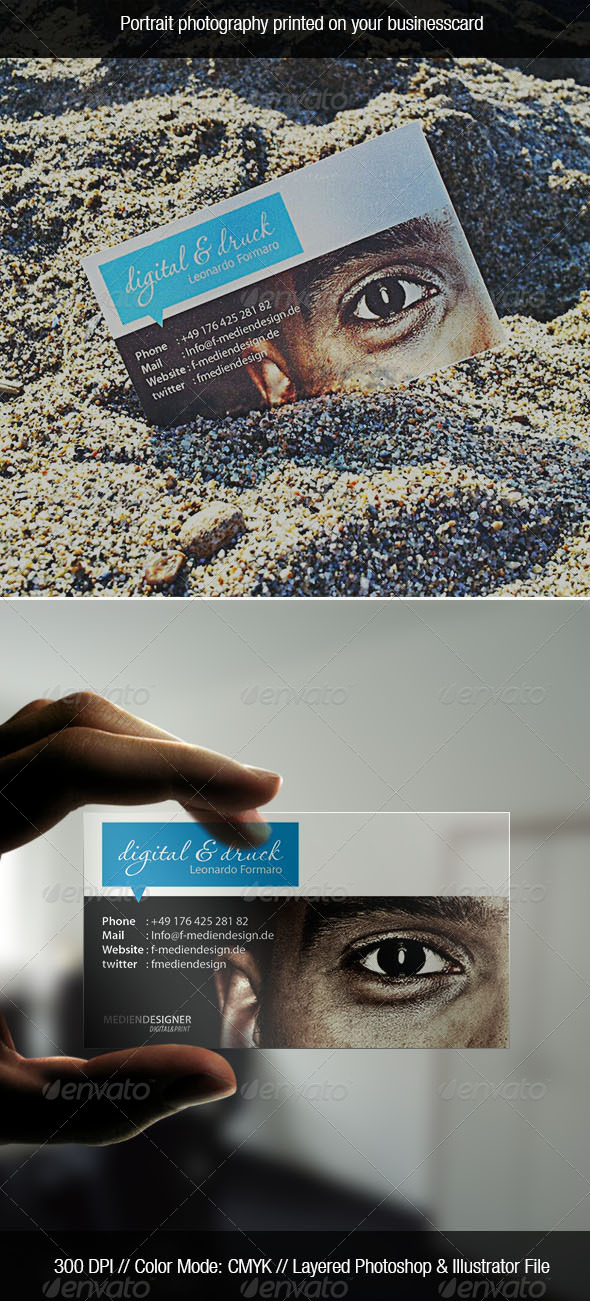 GraphicRiver Transparent Photo Business Card 4312624