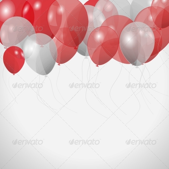 GraphicRiver Colored Balloons Vector Illustration 4312641