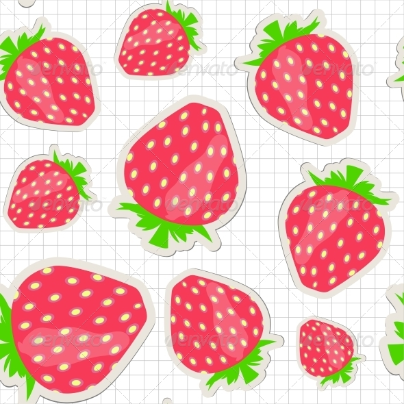 GraphicRiver Seamless Pattern with Strawberry 4312706