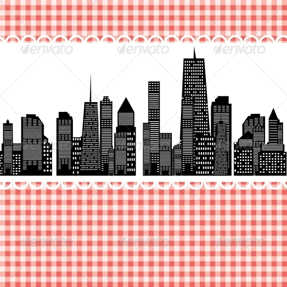 GraphicRiver Vector Illustration of Cities Silhouette EPS 10 4312721