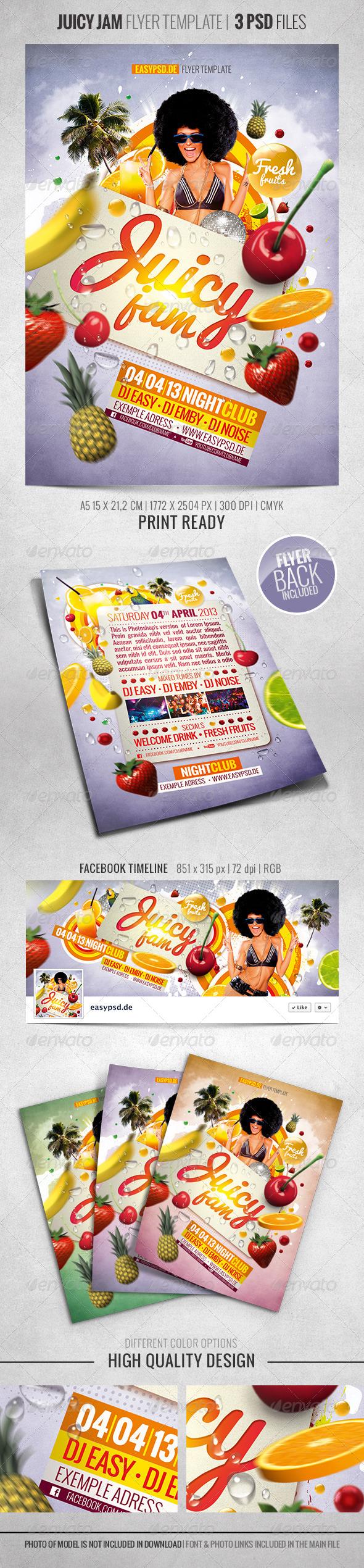 GraphicRiver Juicy Jam Flyer Template 4152020