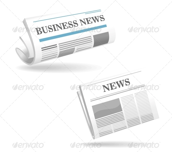 GraphicRiver Realistic Newspaper Icons 4313364