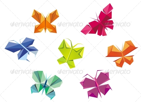 GraphicRiver Origami Butterflies 4313872