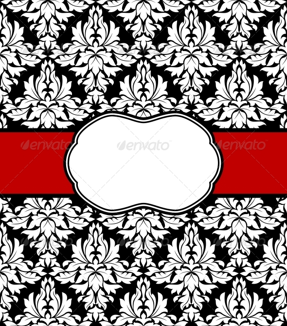 GraphicRiver Seamless Background with Elegant Frame 4313886