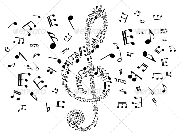GraphicRiver Musical Clef with Notes 4313967