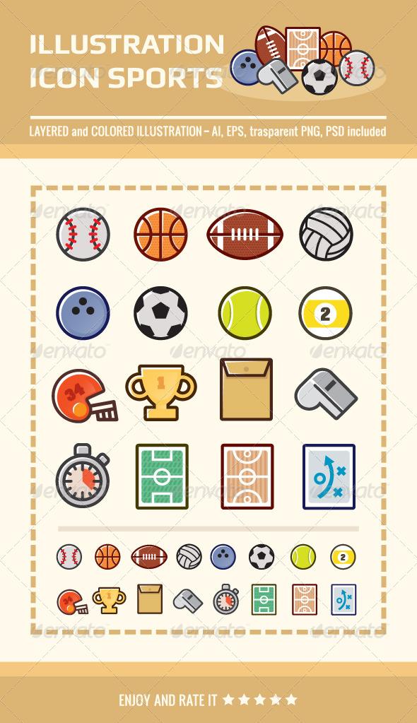 GraphicRiver Illustration Icon Sports 4286008