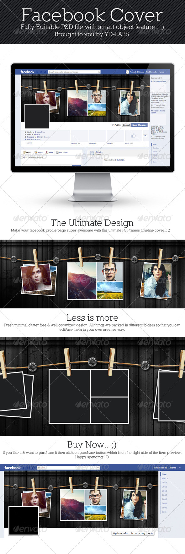 GraphicRiver FB Frames Cover 4316603