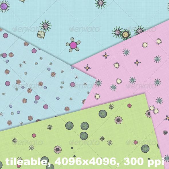 GraphicRiver 4 Flower Fabrics Vol 1 4316688