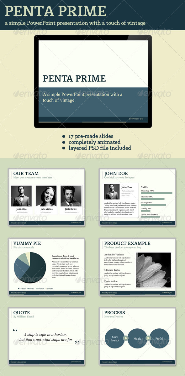 GraphicRiver Penta Prime PowerPoint Template 4316845