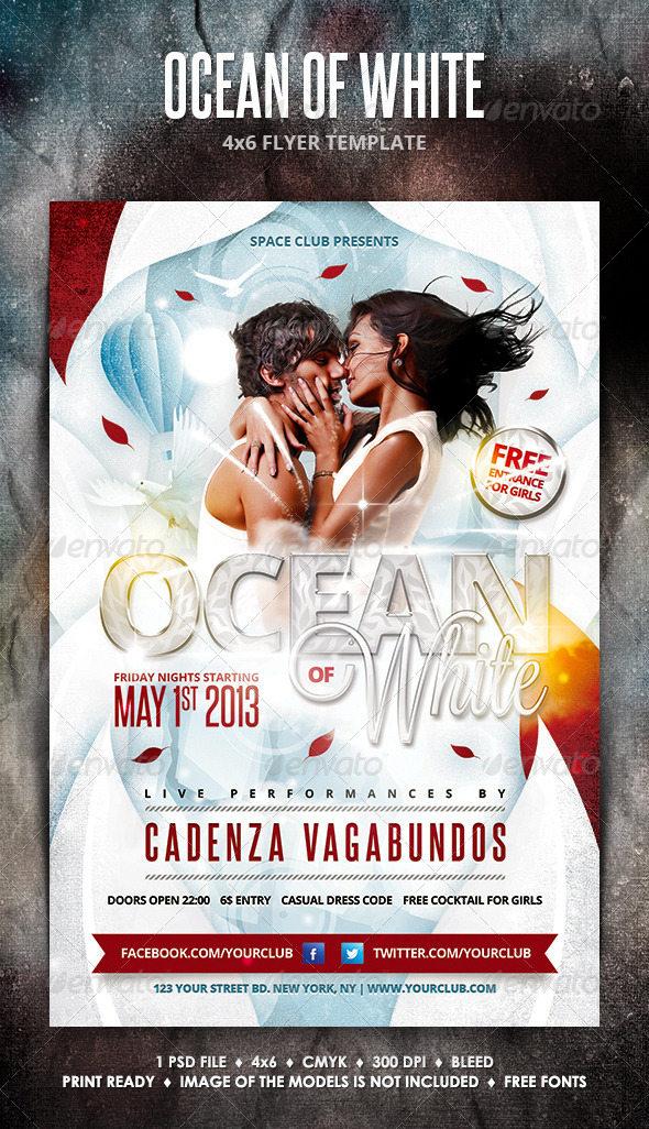 GraphicRiver Ocean of White Party Flyer 4316867