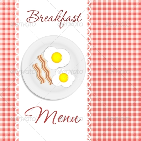 GraphicRiver Breakfast Menu Vector Illustration 4317242