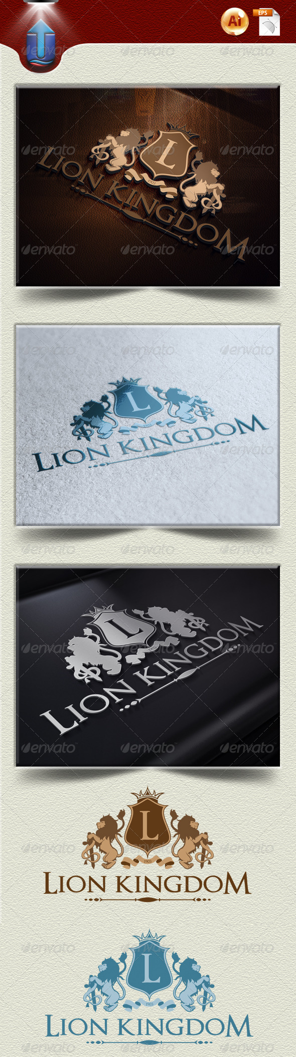 GraphicRiver Lion Kingdom Logo Template U 4232930